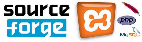 Logo de sourceforge.net y XAMPP
