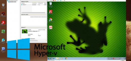 Windows 10 corrieno un Windows 7 en Hyper-V. Mariano Julián Rochina.