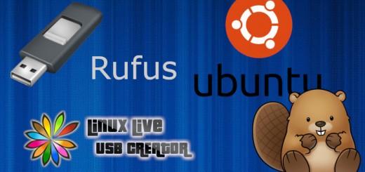 Software para crear Live USB. Rufus y Linux Live también conocido como Lili para UBUNTU.