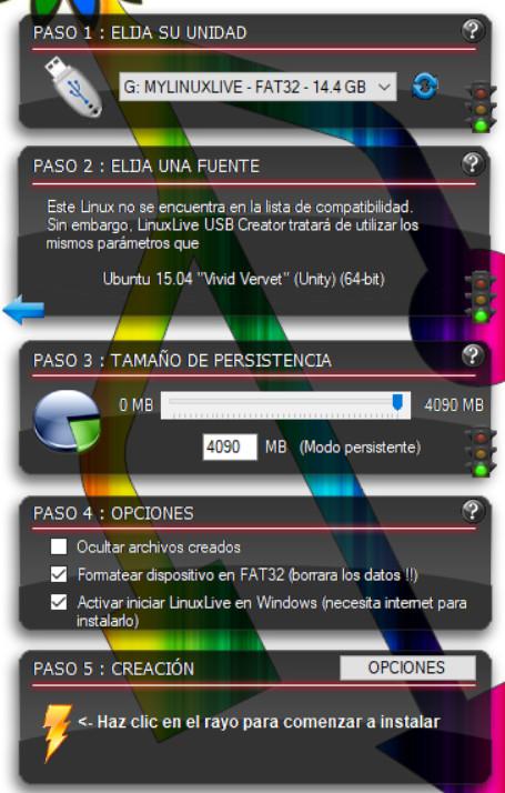 Menu Linux Live